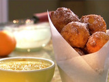 Peach Fritters with Orange Glaze