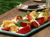 Caprese Salad with Roasted Mango Dressing