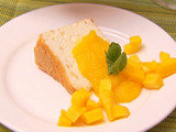 Angel Food Cake with Mangoes