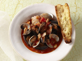 Mussels and Clams with Spicy Tomato Broth