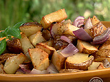 Vinegar-Coarse Salt Chipotle Roasted Potatoes