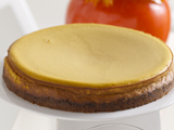 Pumpkin Cheesecake with Bourbon Spiked Cream