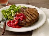 Grilled Pork Chops With Plum-Ginger Chutney
