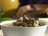 Buckwheat Soup with Porcini, Beef and Kale