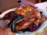 Whole Roasted Turkey with Citrus Rosemary Salt