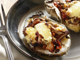 Baked Oysters With Wild Mushroom Ragout