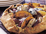 Butternut Squash, Apple, and Onion Galette with Stilton