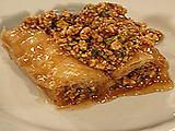 Rolled Honey and Lemon Three-Nut Baklava