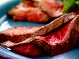 Lime-Marinated Flank Steak with Herb Salad