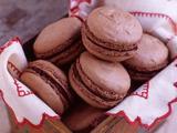 Hazelnut-Mocha Macarons