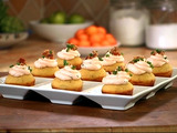 Bacon Corn Muffins with Savory Cream Cheese Frosting
