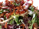 Spring Salad with Creamy Goat Cheese Dressing