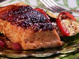 Maple and Mustard Glazed Salmon