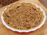 Apple and Cherry Pie with Oatmeal Crumble Topping