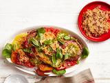 Tomato Caesar Salad With Bacon-Parmesan Crisps