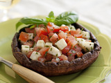 Grilled Portobello Mushrooms with Tomatoes and Fresh Mozzarella