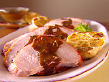 Roasted Pork Loin with Roasted Garlic Vinaigrette