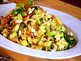 Chopped Apple Salad with Toasted Walnuts, Blue Cheese & Pomegranate Vinaigrette