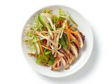 Asian-Style Grilled Chicken Salad With Cherry-Peanut Dressing