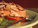 Salmon with Puff Pastry and Pesto