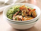 Shrimp Scampi over Pesto Couscous