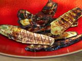 Grilled Eggplant with Garlic Sauce and Mint
