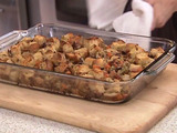 Ciabatta Stuffing with Chestnuts, Mushrooms and Pancetta
