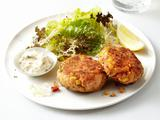 Salmon Cakes With Salad