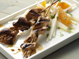 Chipotle Chicken or Shrimp Skewers with Jicama-Orange Salad