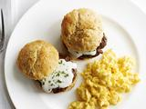 Biscuits With Cream Gravy, Sausage and Scrambled Eggs