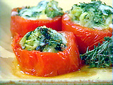 Zucchini Stuffed Tomatoes