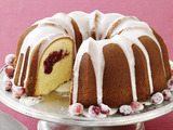 Meyer Lemon-Cranberry Bundt Cake
