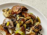 Challah Bread- Mushroom Stuffing With Wild Rice and Raisins