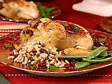 Cornish Hens with Brown Rice Stuffing