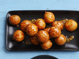 Rice Fritters With Sesame Caramel