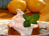 Pound Cake with Lemon Cream