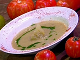 Hot N' Spicy Green Tomato Soup with Crispy Pancetta