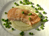 Olive Oyl's Roasted Salmon with Cauliflower Puree
