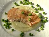 Olive Oyl's Roasted Salmon with Cauliflower Puree