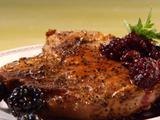 Pan-Fried Pork Chops and Blackberries