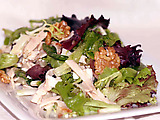 Smoked Turkey Salad with Goat Cheese and Walnuts