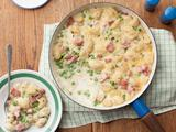 Cheesy Gnocchi Casserole with Ham and Peas