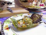 Grilled Taro Leaf-Wrapped Mahi-mahi with Lilikoi (Passion Fruit) Reduction