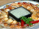 Spicy Shrimp with 2 Sauces