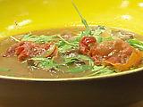 Wild Mushroom Soup with Arugula and Crispy Serrano Ham