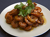 Bering Sea Shrimp with Spicy Glaze