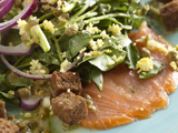 Smoked Salmon and Watercress Salad with a Lemon-Caper Vinaigrette