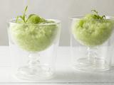 Wine, Honeydew, and Tarragon Granita