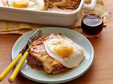 French Toast Croque Madame Casserole