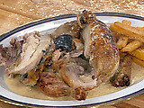 Casserole-Roasted Chicken with Truffles and Truffled Pan Sauce